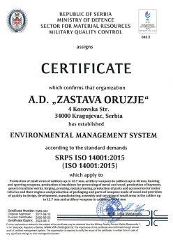 SRPS ISO 14001-2015